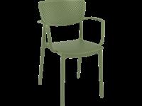 LOFT - Chaise en résine avec bras - OLIVE VERTE