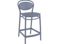 MARCEL - Counter Height Barstool - 65cm - DARK GREY