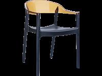 CARMEN - Chaise en résine et polycarbonate - BLACK/AMBER