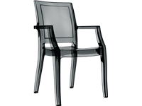 ARTHUR - Chaise en polycarbonate - BLACK TRANSPARENT
