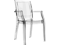 ARTHUR - Chaise en polycarbonate - CLEAR TRANSPARENT