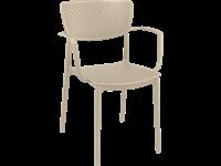 LOFT - Chaise en résine avec bras - TAUPE