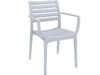 ARTEMIS - Chaise en résine - SILVER GREY