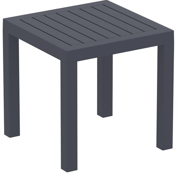 """<meta charset=""""UTF-8"""">OCEAN - Table en résine- 45x45cm - GRIS foncé"""