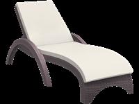 FIJI - Chaise longue en résine - CHOCOLATE