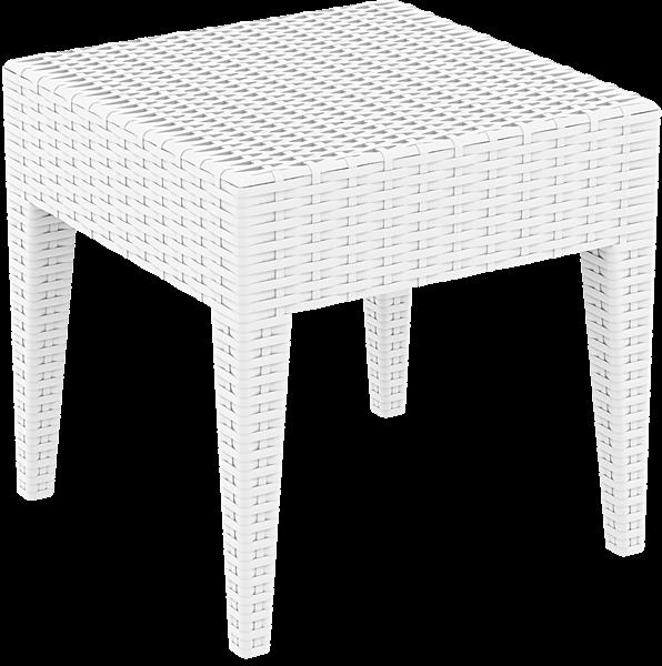 "<meta charset=""UTF-8"">MIAMI - Table en résine- 45x45x45cm - BLANC"