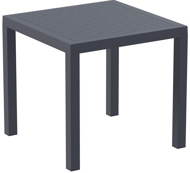 """<meta charset=""""UTF-8"""">ARES - Table en résine - 80x80cm - GRIS FONCÉ"""
