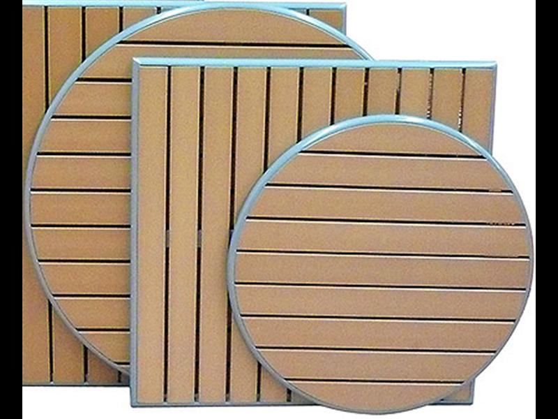 """<meta charset=""""UTF-8"""">NO WOOD - Dessus de Table - Aluminum Border - TEAK - Round - 80cm"""