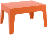 BOX - Table basse en résine - 50x70x43cm - ORANGE