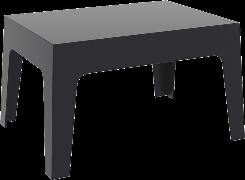 "<meta charset=""UTF-8"">BOX - Table basse en résine- 50x70x43cm - NOIR"