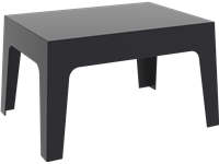 BOX - Table basse en résine - 50x70x43cm - BLACK