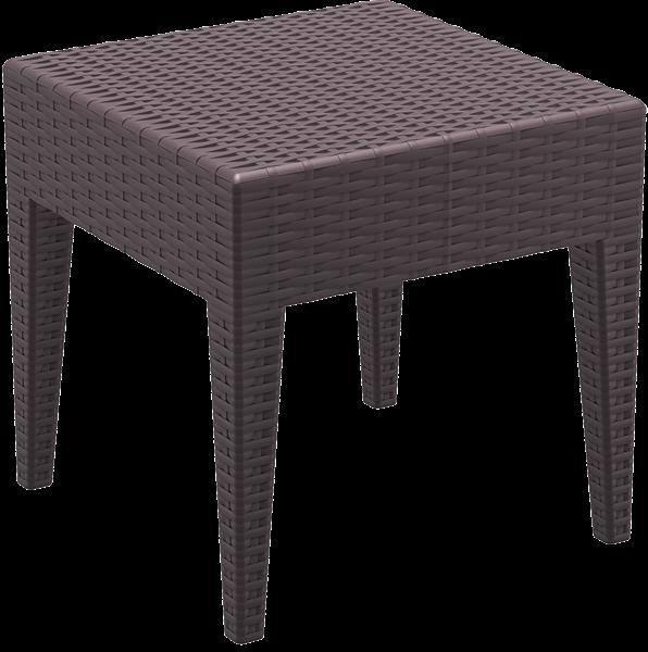 "<meta charset=""UTF-8"">MIAMI - Table en résine- 45x45x45cm - CHOCOLAT"