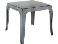 QUEEN - Table basse en polycarbonate - 51x51x43cm - BLACK TRANSPARENT