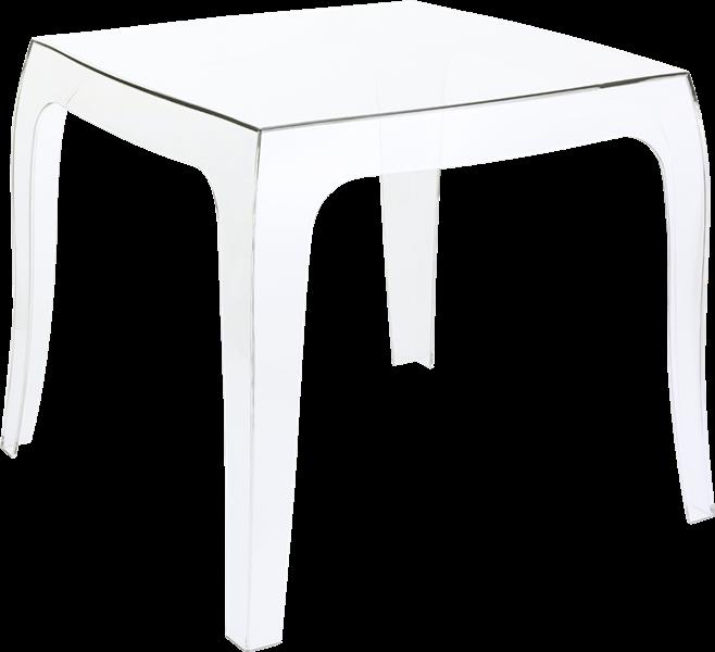 "<meta charset=""UTF-8"">QUEEN - Table basse en polycarbonate - 51x51x43cm - CLEAR TRANSPARENT"