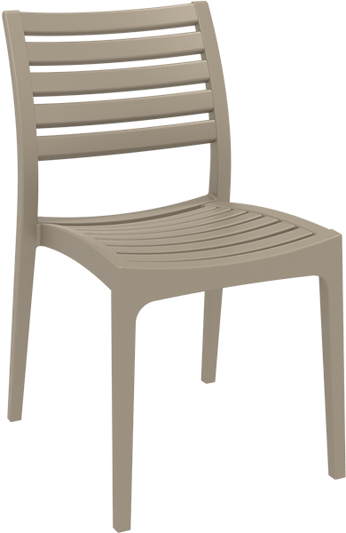 """<meta charset=""""UTF-8"""">ARES - Chaise en résine- TAUPE"""