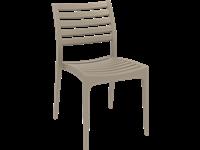 ARES - Chaise en résine - TAUPE