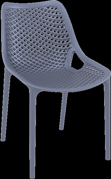 """<meta charset=""""UTF-8"""">AIR - Chaise en résine- GRISE foncée"""