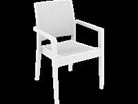 IBIZA - Chaise en résine - WHITE
