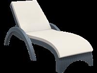 FIJI - Chaise longue en résine - CHARCOAL