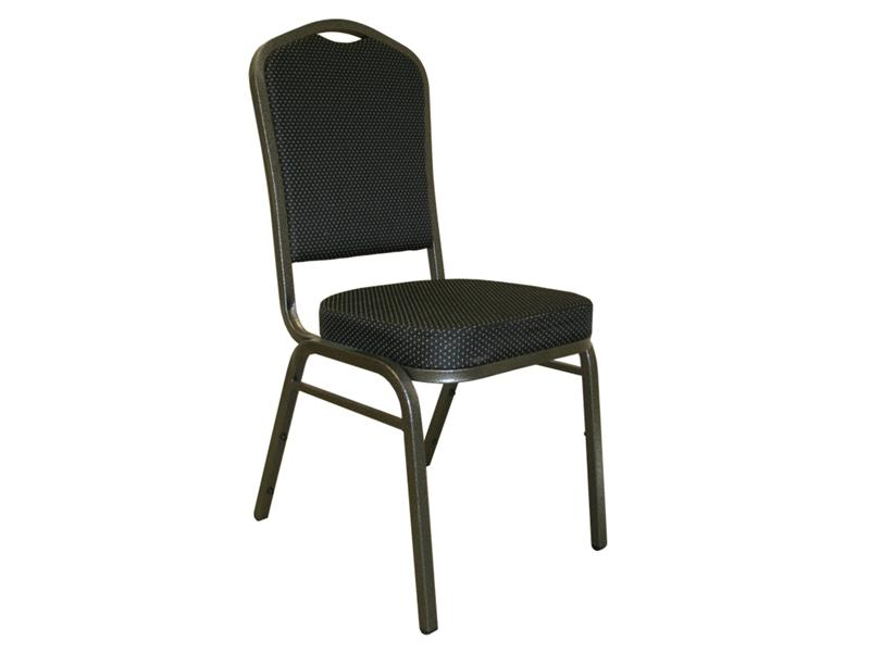 """<meta charset=""""UTF-8"""">Chaise salle de Réception - métal- Armature SILVER VEIN - Siège et dossier tissus motif NOIR"""