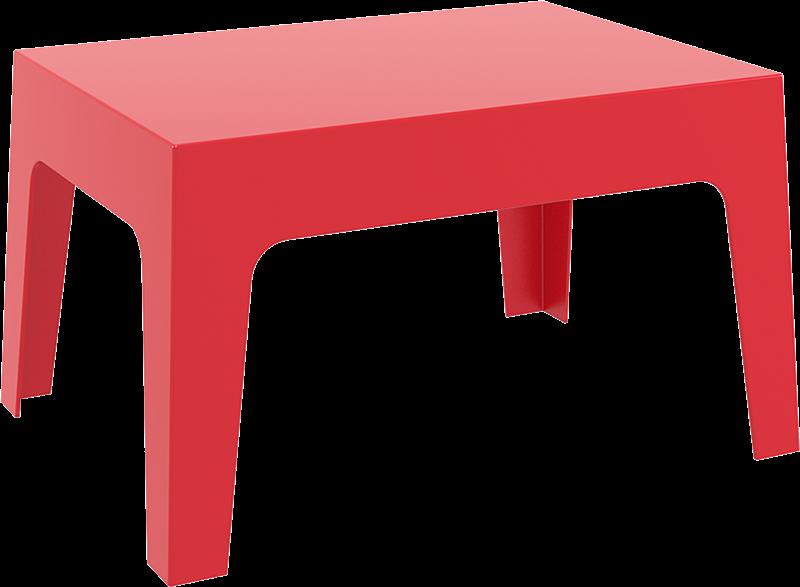 "<meta charset=""UTF-8"">BOX - Table basse en résine- 50x70x43cm - ROUGE"