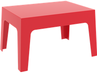 BOX - Table basse en résine - 50x70x43cm - RED