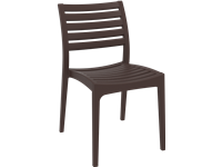 ARES - Chaise en résine - DARK BROWN