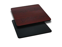 Table Top Reversible BLACK / MAHOGANY - 30x30