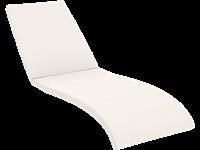 COUSSIN SEULEMENT  - FIJI Chaise longue en résine  - ECRU