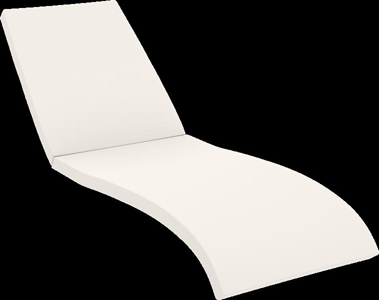 "<meta charset=""UTF-8"">COUSSIN SEULEMENT  - FIJI Chaise longue en résine - ECRU"