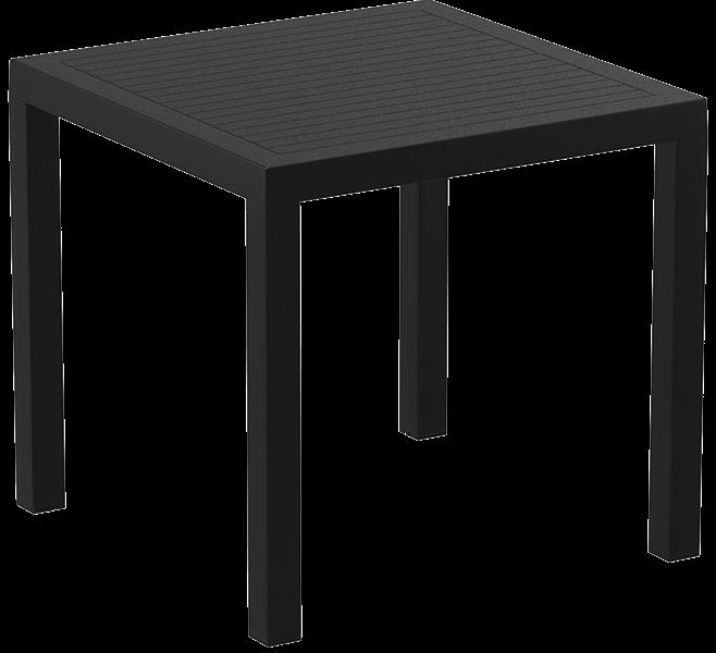 """<meta charset=""""UTF-8"""">ARES - Table en résine- 80x80cm - NOIR"""