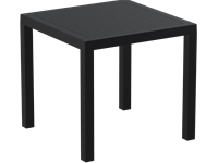ARES - Table en résine - 80x80cm - BLACK