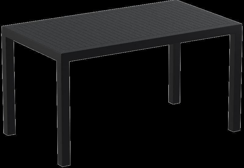"""<meta charset=""""UTF-8"""">ARES - Table en résine- 80x140cm - NOIR"""