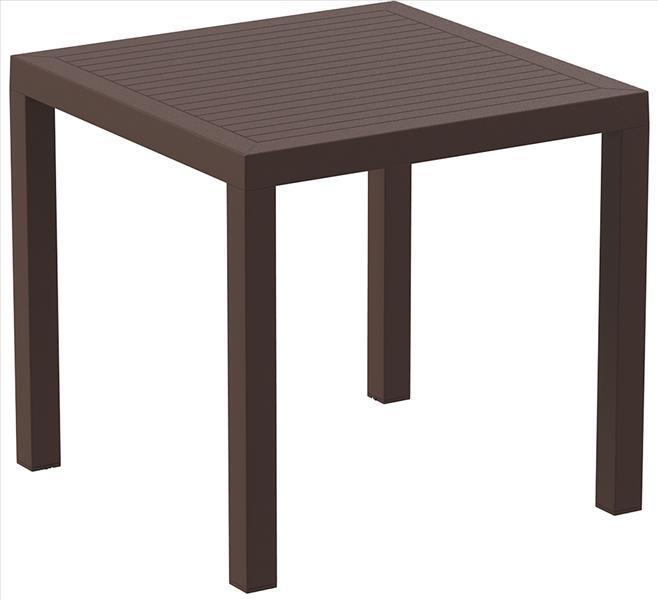 "<meta charset=""UTF-8"">ARES - Table en résine- 80x80cm - BROWN"