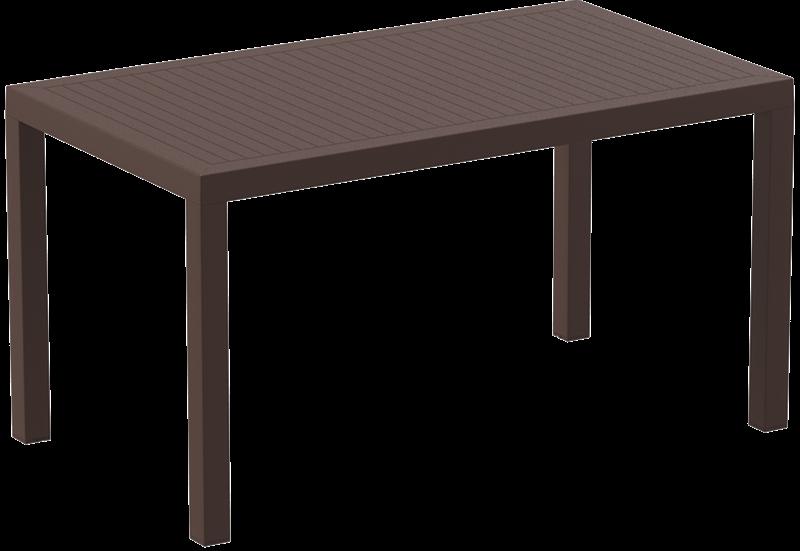 "<meta charset=""UTF-8"">ARES - Table en résine- 80x140cm - BROWN"
