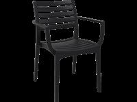 ARTEMIS - Chaise en résine - BLACK