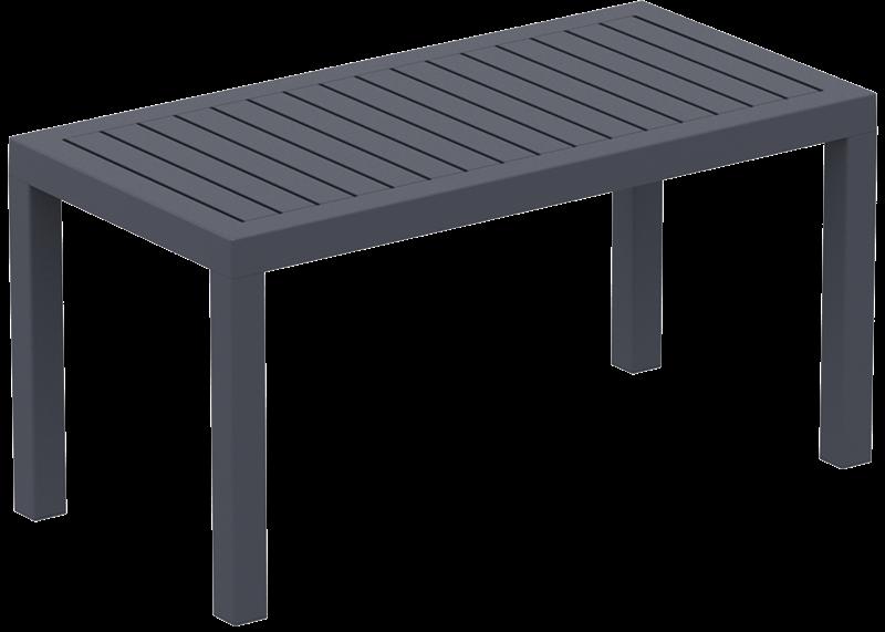 """<meta charset=""""UTF-8"""">OCEAN - résine Table - 45x90cm - GRIS foncé"""