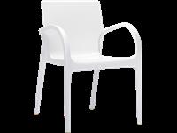 DEJAVU - Chaise en polycarbonate - GLOSSY WHITE