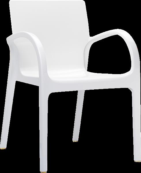 "<meta charset=""UTF-8"">DEJAVU - Chaise en polycarbonate - BLANC brillant"