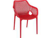 AIR XL - Chaise en résine - RED