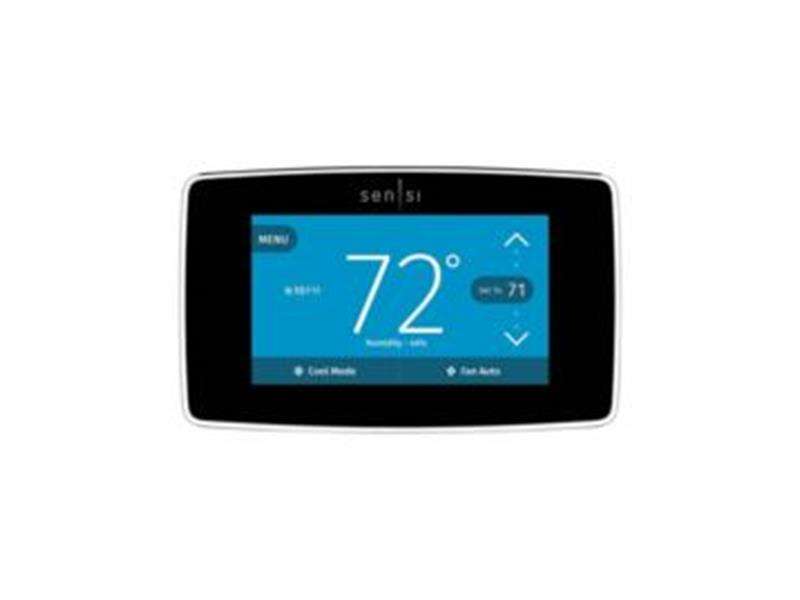 White Rodgers Sensi™ Touch Wi Fi Smart Thermostat with Geo Fencing and Apple Home Kit, Black